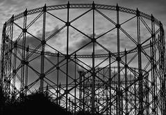 Circles in circles with diagonals (Robert Barone) Tags: italia italy micro43 olympusep5 ostiense roma rome blackandwhite circles commute diagonals gasometro mirrorless blancoynegro blackwhite noiretblanc