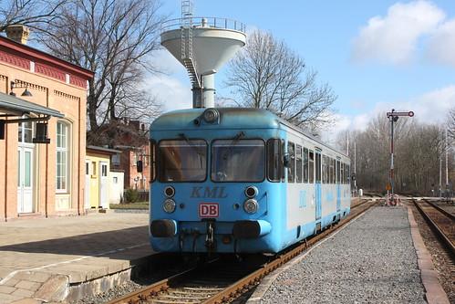 KML: VT 408 im Bahnhof Klostermansfeld