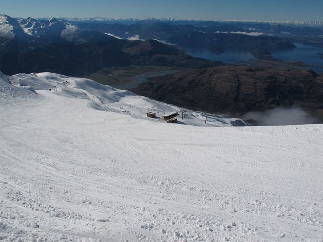 High Street looking towards the Home Basin - Treble Cone, Wanaka NZ (4 August 2014)
