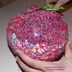 Ваза из конфети