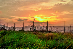 Fire in The Sky (Navin.Images) Tags: city sunset sky sun india nature landscape andhra vizag visakhapatnam