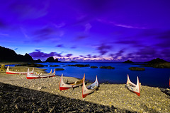 Day3 (M.K. Design) Tags: ocean longexposure sunset sea cats seascape mountains nature night sunrise landscape boats scenery glow pacific country taiwan images goats       township taitung lanyu       2015  orchidisland                 pongsonotao