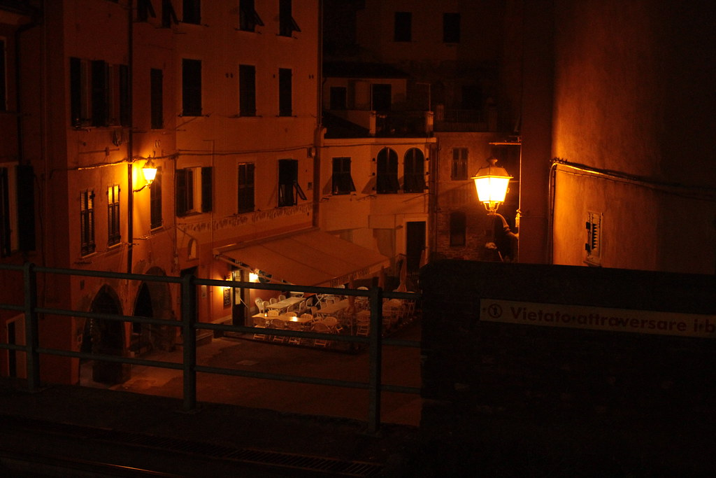 vernazza by night