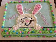 Easter Bunny cake by Corin, Linn County, IA,www.birthdaycakes4free.com
