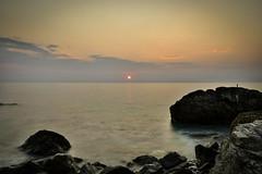 Sunrise time (alexpapad) Tags: sea summer sky beach stone clouds sunrise greece 2015 velika bouka