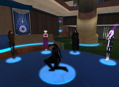 7_26_15 Varyk Master Ceremony On One Knee 9 _ Raven speaking for Var (elyssa.moonshadow) Tags: life people star starwars sl jedi second wars yavin roleplay