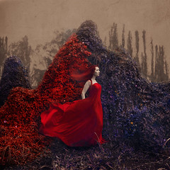 the red eternal (brookeshaden) Tags: fairytale vines power fineart passion conceptual magical whimsical darkart photoconference brookeshaden promotingpassionconvention
