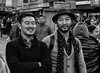 Friends (deepteesh (hAppy new yr 2017)) Tags: street gangtok sikkim blackandwhite monochrome lovely profile portrait art expression