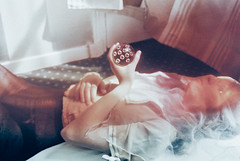 Bedroom Stories. (Violette Nell) Tags: analog expiredfilm bedroomstories film filmphotography portrait portraiture girl youth dreamy argentique ethereal melancholy colors 35mmcolorfilm france analogue portraitargentique intimacy intimité softness mood atmosphere fineart violettenell feelings body dream aesthetic model