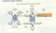 Continental IAH diagram, June 2002 (airbus777) Tags: continentalairlines iah co terminal diagram map houstonintercontinental 2002