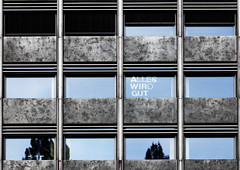"""Everything Will Be Fine"" (CoolMcFlash) Tags: window text vienna building architecture facade canon eos 60d tamron b008 18270 fenster wien gebäude architektur fassade fotografie photography pattern muster geometry geometrie reflection spiegelung"