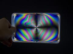 Polarised lid (Mike P H) Tags: color vibrant rainbow polarization light