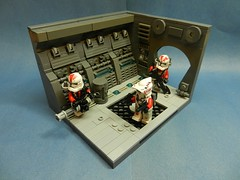 _.1 (Everything Wrong With The Lego Community) Tags: star wars clones sticker red lego build vignette