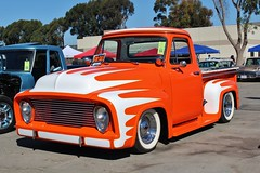 17th Annual Cruisin' for a Cure (USautos98) Tags: 1955 ford pickuptruck traditionalhotrod streetrod kustom scalloppaint