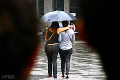 Rain in Sao Paulo (1) (Mahmoud R Maheri) Tags: people saopaulo brazil street rain girls umbrella shopping shoppingcentre wet