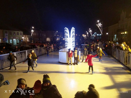 Christmas Rink in a Polish village