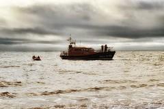 lifeboats (sarahgiles2) Tags: rnli lifeboats christmasdayswimming christmasdayswim beach seaswimming seaswim jurassiccoast boats eastdevon devon