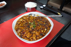 Mapo Tofu @ Jia Yan @ Paris (*_*) Tags: paris france europe city winter 2017 january jiayan chinese food restaurant sichuan szechuan china mapotofu spicy tofu doufu rice