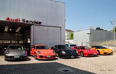 Porsche | Ferrari | Lamborghini (phctba) Tags: porsche 911 carrera 991 gt3rs lava orange ferrari 599 gto 430 scuderia lamborghini gallardo spyder lp5604