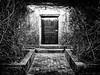 Secret Door (idreamofdaylight) Tags: 2016 bw dmcgx7 lumix mft panasonic portugal secret black door naturalvignette white quinta da bacalhoa quintadabacalhoa