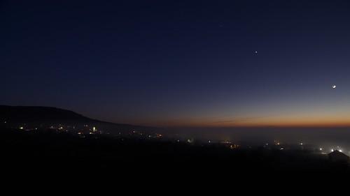 Sunset over Perna village