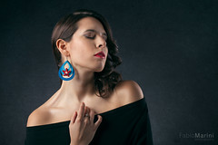 Simply wonderful (Fabio Marini) Tags: model female portrait beauty beautiful wonderful woman girl shoulders face lips blue red light skin earring
