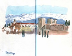 La Alhambra (jfdorado) Tags: alhambra albaicín granada usk urbansketchers andalucia watercolor sketchbook