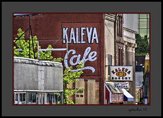 Kaleva Cafe (the Gallopping Geezer '4.2' million + views....) Tags: sign signs signage ghostsign faded worn wall paint painted northernmichigan mi michigan upperpeninsila up smalltown backroads backroad ad advertise advertisement business store product canon 5d3 tamron 28300 geezer 2016