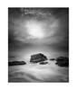 Southern Sun (Mike Hankey.) Tags: sunrise blackandwhite published seascape monavale midtide cloud north