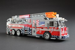 "FDNY 150th Anniversary Truck ""honoring the bravest"" (sponki25) Tags: fdny squad firetruck newyork nyc fire department new york seagrave lego engine fahrzeug feuerwehr kme ferrara ladder truck 150th anniversary"