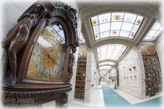 Mausoleum (Fisheye) 3 - Clock (FarhadFarhad .(Farhad Jahanbani)) Tags: mausoleum fisheye lens 8mm cemetery seattle