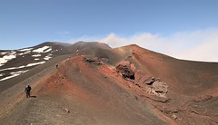 Mount Etna (Derbyshire Harrier) Tags: etna sicily volcano 2016 spring april geology tephra crater eruption snow activevolcano summit people hikers