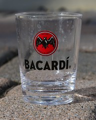 Plastic Bacardi Shot Glass (slgckgc) Tags: shotglass