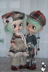 new OOAK full custom blythe twins: Elise and Elliot FA