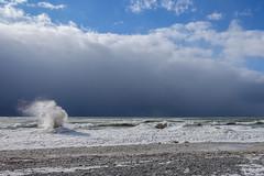 Water Power (gabi-h) Tags: water waves icespouts snow ice lakeontario wellingtonbeach princeedwardcounty gabih ontario clouds blue power