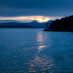 Toward Evening (Ron Rothbart) Tags: orcasisland pugetsound sanjuanislands washington bluehour dusk islands reflection sunset water