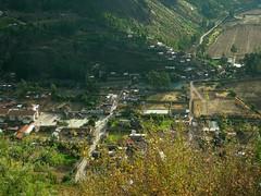 Peru (Urubamba) View of Urubamba city at Sacred Valley