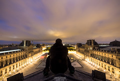 Only God Can Judge Me (UrbexGround) Tags: roof urban paris rooftop night high long exposure louvre exploration urbex urbexground
