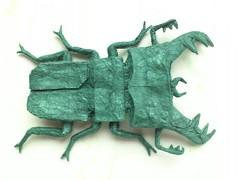 old stag beetle (origamiPete) Tags: origami stag beetle peter pete petr stuchly stuchl origamipete