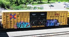 hype - natas (timetomakethepasta) Tags: art train graffiti tits crew hype boxcar freight ctk tbox ttx natas