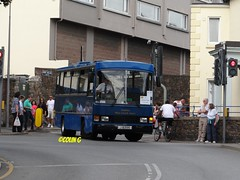 Tantivy 4 (Coco the Jerzee Busman) Tags: uk blue bus islands coach camo renault cannon jersey swift dennis tours dart channel leyland lcb plaxton tantivy