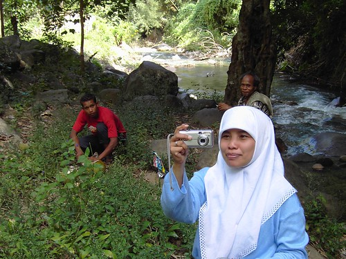 Bajawa. Island of Flores. Indonesia. West Timor.  Capturing the photographer.