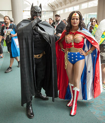 Batman and Wonder Woman (uncle_shoggoth) Tags: california woman wonder san sandiego diego convention batman con geeky sdcc