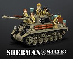 M4A3_SHERMAN_E8 (bijanz) Tags: army tank lego military ww2 worldwar fury sherman m4a3 legotank