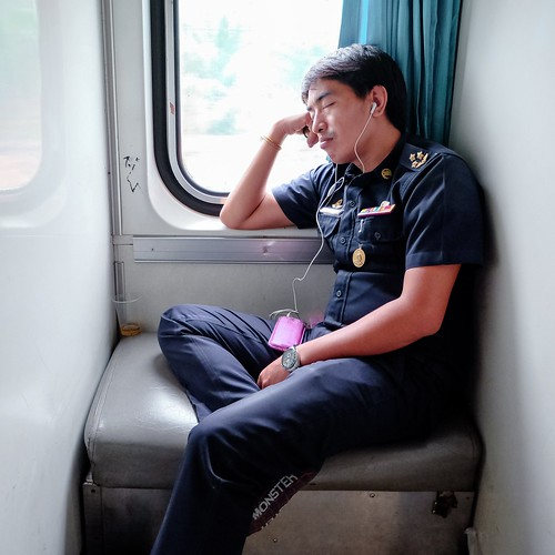 Il copilota, treno Hua Hin - Surat Thani