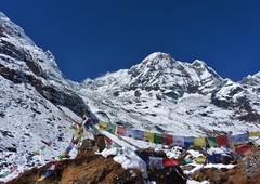 Annapurna South - Himalayas, Nepal (Max K-Sta) Tags: nepal prayer flags abc himalaya annapurna 2014