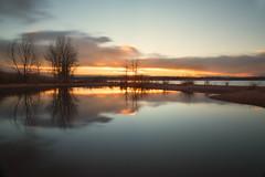 Morning Light (mclcbooks) Tags: dawn sunrise daybreak morning clouds light sky lake trees silhouettes reflections chatfieldstatepark lakechatfield colorado le longexposure