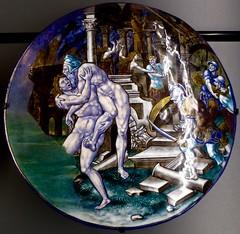 mythologies d'émail (1) (canecrabe) Tags: énée anchise troie fuite émail pierrecourteys renaissance limoges rome