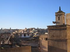 Minaret and medina from Riad La Maison Verte, Fez, Morocco (Paul McClure DC) Tags: fez morocco fès almaghrib dec2016 medina feselbali maroc mosque historic architecture