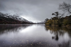 Defiance (Griff~ography) Tags: lakedistrict ullswater snow mountain trees autumn water reflection longexposure cumbria